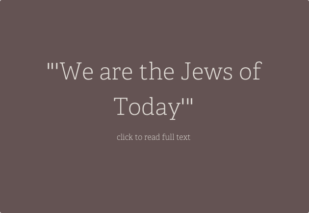 We are the Jews of today:  Filipino Domestic Workers in Israel and the Language of Diaspora