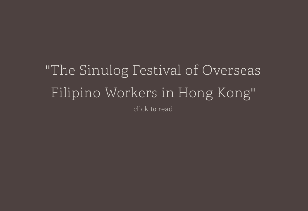 The Sinulog Festival of Overseas Filipino Workers in Hong Kong: Meanings and Contexts