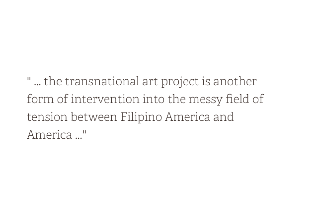 Fictions of Return in Filipino America