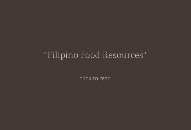 Filipino Food Resources
