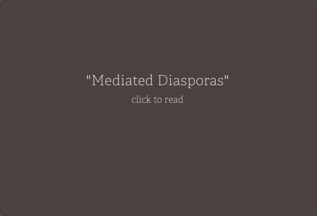 Mediated Diasporas:  Material Translations of the Philippines in a Globalized World